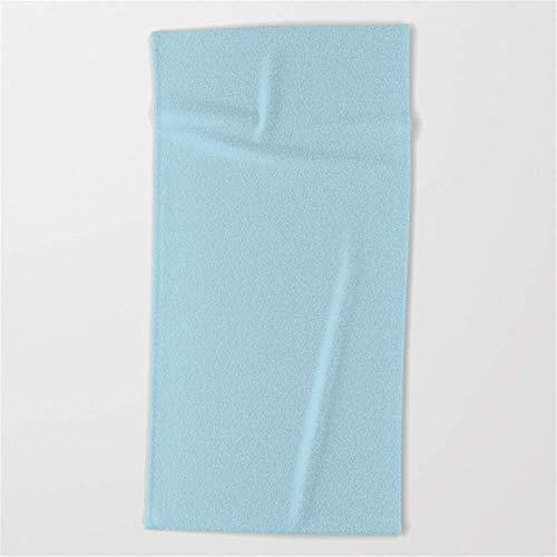 fregrthtg Bath Towel Microfiber BAGT, Light Blue - Solid Color Beach Towel 31x51 Inchesches