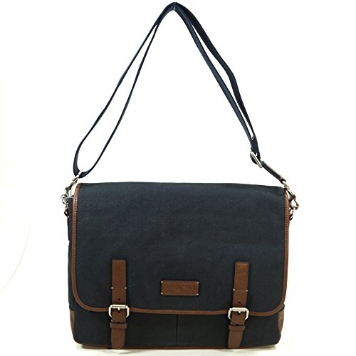 Messenger Bag Leder Fossil (Fossil Herren Graham Business Tasche, Blau (Navy), 8.9x27.9x39.4 cm)