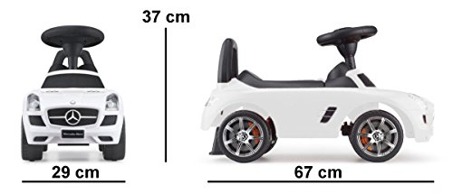 Rutschauto Rutscher Bobby car Mercedes-BENZ SLS AMG Kinder Auto Baby Car mit Sound (WEISS) - 2