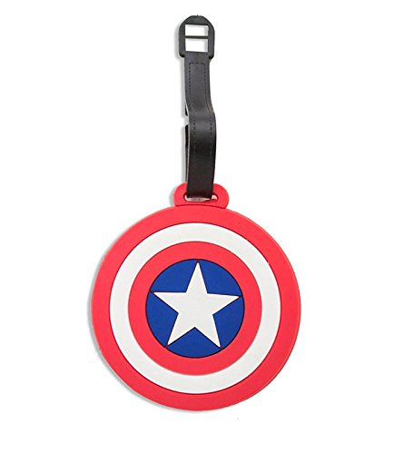 Art Street PVC Captain America Design Travel ID / Travel Suitcase / Travel Trolley Luggage Tag