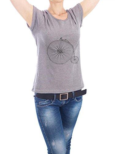 """Design T-Shirt Frauen Earth Positive """"Bicycle"""" - stylisches Shirt Motiv von Artkuu Grau"""
