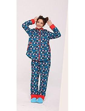 Personalizzata ispessimento casuale del rivestimento pigiama di cotone autunno e in inverno pigiama incappucciati...