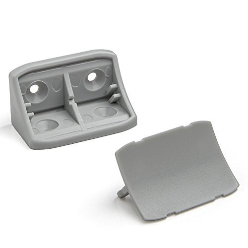 100 Stück Doppel Korpusverbinder Eckverbinder Schrankverbinder Möbelverbinder Winkel für Möbel 24 x 24 x 44 mm Farbe: Hellgrau