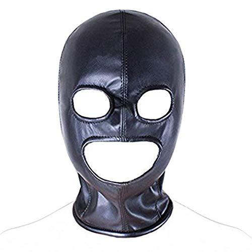 TM-mall Máscara de Cuero Negro, Divertidos Juegos de encuadernación, Unisex.