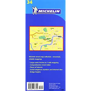 Plano Plegable London. Street Map and Index (Planos Michelin)