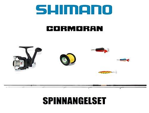 Shimano Cormoran Spinnrutenset (1) Rute + Rolle + Schnur + Kunstköder