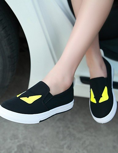 ZQ Scarpe Donna - Ballerine - Casual - Punta arrotondata - Piatto - Tessuto - Nero / Bianco , white-us8 / eu39 / uk6 / cn39 , white-us8 / eu39 / uk6 / cn39 white-us8 / eu39 / uk6 / cn39