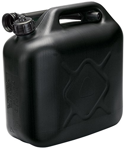 Draper 82693 10l plastic fuel can - black