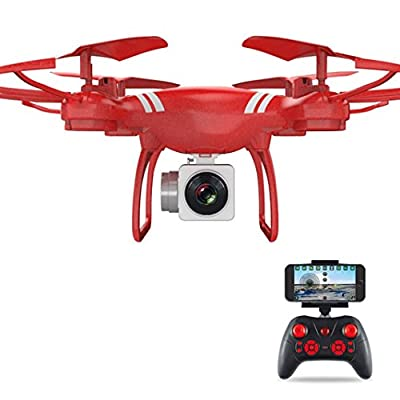 Sisit Wide Angle Lens HD Camera Quadcopter RC Drone WiFi FPV Live Helicopter Hover for Racing Drone Fans Aerial Photography