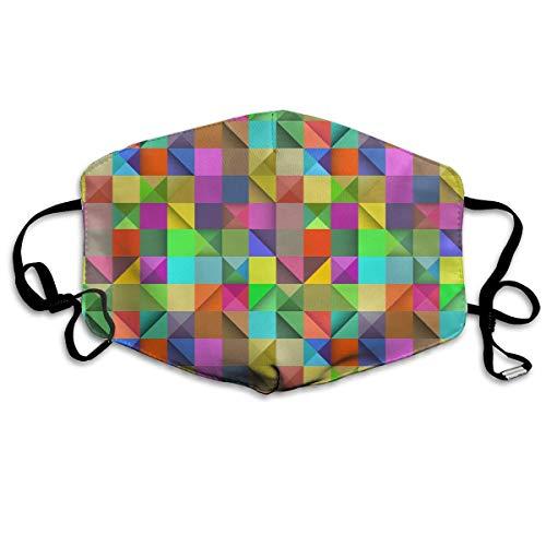 Wdskbg Unisex-Staubmaske-Rechteck-Regenbogen-geometrische Bunte Mundmaske-Gesichts-Kleidung Anti-Verschmutzungs-im Freienmaske-Tätigkeiten warme Winddichte Gesichtsmasken Unisex3