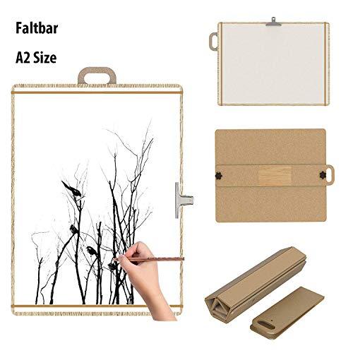 SWEETPAI Faltbare A2 Artist Sketch Tote Board Keilrahmen Zeichenbrett Holz - ideal für Klassenzimmer, Studio oder Field Use- Perfekt als Künstler-Bedarf (Board Tote)