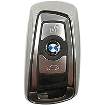 CK + BMW auto de llave Carcasa TPU plástico Keyless Key Cover Case Funda para 3567Z4X3X5X6, plata