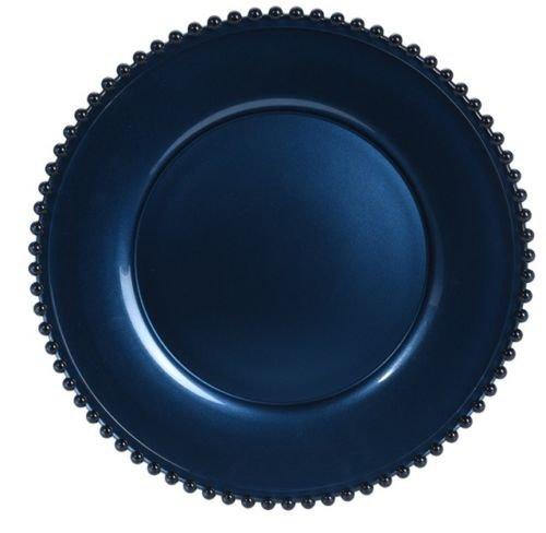 34 cm sans plomb Verre de Cristal Assiette de Assiette de service Bleu