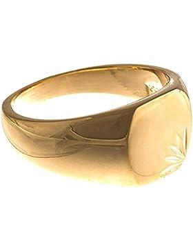 ISADY - Lovely Gold - Herren Ring Damen Ring Siegelring - 18 Karat (750) Gelbgold platiert