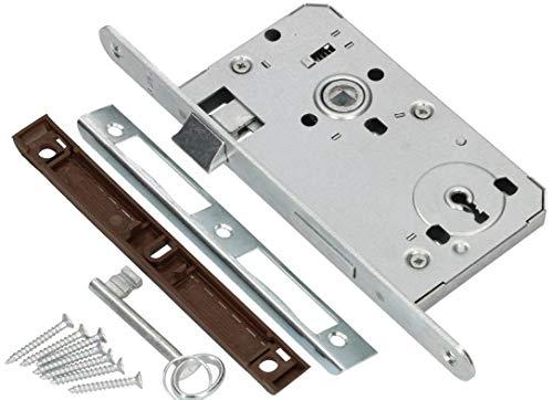 Gah-Alberts 414788 galvanizada, mandril: 45 mm, separaci/ón: 92 mm, placa de cerradura: 24 x 255 mm Cerradura para puertas de perfil bajo