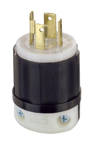 Leviton 2711 30 Amp, 125/250 Volt, NEMA L14-30P, 3P, 4W, Locking Plug, Industrial Grade, Grounding - Black-White by Leviton (L Nema 14 30 Plug)