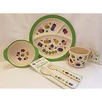 Kinder Geschirr Set Bambus Geschirr Besteck I 5 Teilig I