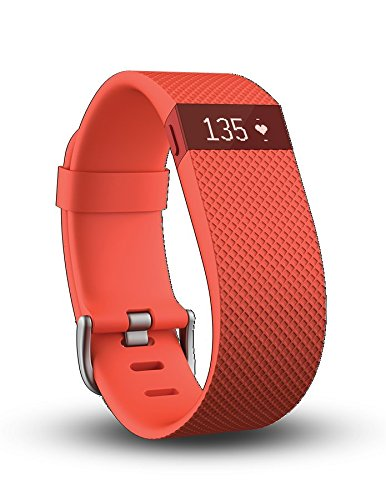 Pulsera de actividad inalámbrica Fitbit Charge HR., 0.05 pounds, color Tangerine