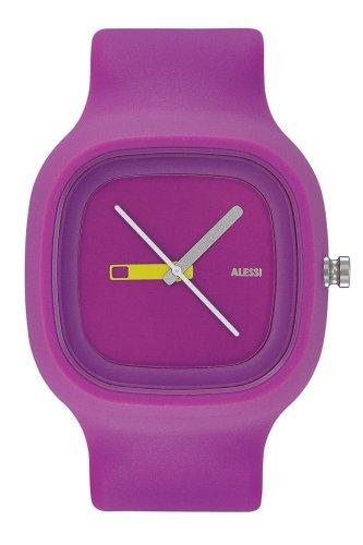 Alessi kay 372 AL10015 - Reloj unisex de cuarzo, correa de caucho color morado