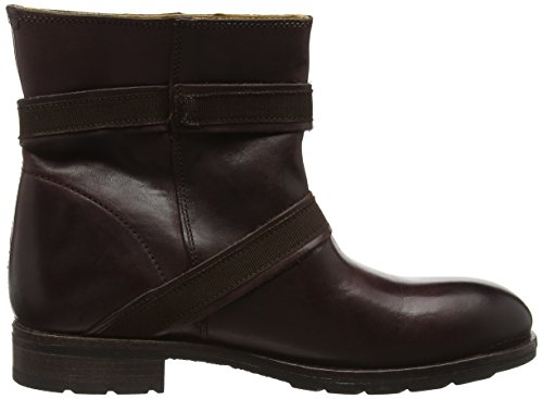 Sebago Laney Mid Boot, Bottes Motardes Femme Rouge (Burgundy Leather)