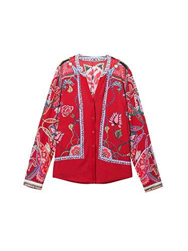 Desigual Langarm Hemd Damen Large Rot