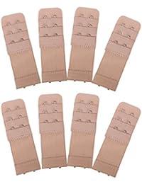 451ef8db9d Senkary 8 Pieces Bra Extenders 2 Hooks 3 Rows Elastic Bra Strap Extenders  Bra Band Extension