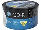 HP 700 MB 52x 80 Minute Branded Recordable Disc CD-R, 50-Disc Spindle CD Rom Compact Disc