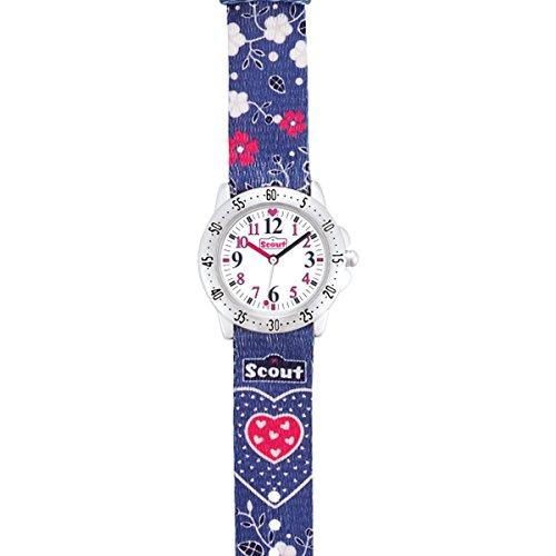 Scout Mädchen-Armbanduhr Analog Quarz Textil 280378070 - 2