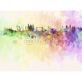 adrium London Skyline in Watercolor Background (58130069), canvas, 30 x 20 cm