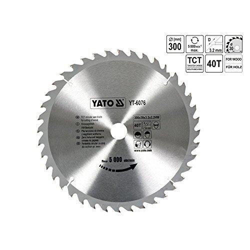 YATO YT-6076 TCT-lame bois 300 x 40 x 30 mm