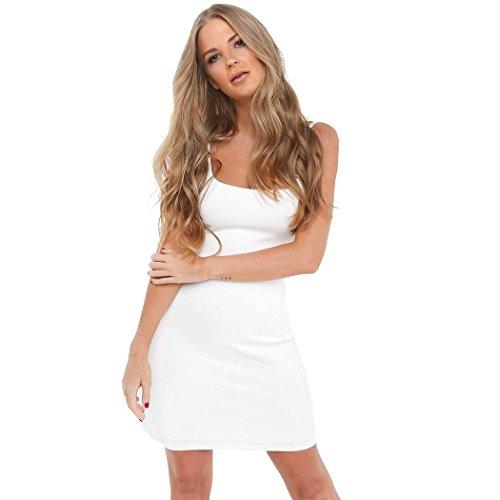 L'Amore Sommerkleid Damen Minikleid Sommer Sexy Kurze Enge Kleider Elegant Partykleid Beachwear...