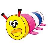 D DOLITY Kinder Cartoon Raupe Tunnel, Tragbare & Faltbar & Leicht, Best Geburtstagsgeschenk für Kinder