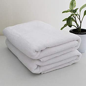 Heelium White Cotton Bamboo Bath Towels for Hotel & Spa, Super Soft Absorbent Antibacterial, 600 GSM, Full Large Size, Set of 2