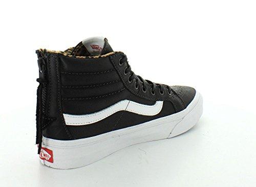 Vans SK8-HI SLIM Unisex-Erwachsene Hohe Sneakers leather black/leopard