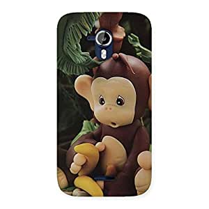 Cute Toy Monkey Multicolor Back Case Cover for Micromax Canvas Magnus A117