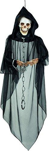 Décoration à suspendre squelette enchainé Halloween - taille - Taille Unique - 228364