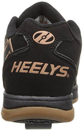 Heelys Propel 2.0 770255, Chaussures avec 1 Roue Garçon, Noir/Marron, 40 2/3 EU Noir (Black/black Gum)