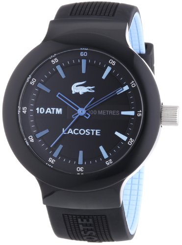 Lacoste Gents Watch XL Analogue Display and Gold Plastic 2010719 Borneo
