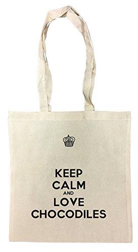 Keep Calm And Love Chocodiles Bolsa De Compras Playa De Algodón  Reutilizable Shopping Bag Beach
