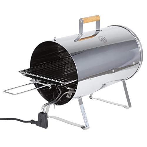 MUURIKKA Räucherofen 1100W Elektro-Smoker kompakt aus Edelstahl, für Fisch & Fleisch