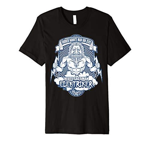 Herren Elektriker Geschenk Lustiger Spruch Gott Zeus