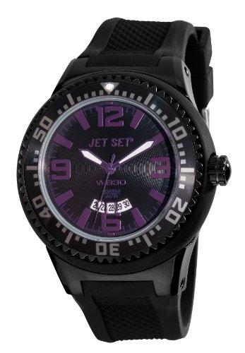Jet Set–J54443-01Wb30–Watch Men–Quartz–Analogue–Black Rubber Strap Multicoloured Dial