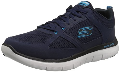 Skechers Herren Flex Advantage 2.0-Golden Point Sneaker Marineblau/Blau 5WlqA