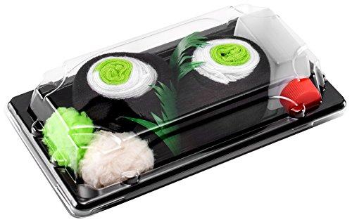 Sushi Socken 1 Paar Maki mit Gurke EU-Größen: 36-40, in Europa hergestellt, ideal als Geschenk! Originelle Socken bester Qualität, mit Öko-Tex-Zertifikat