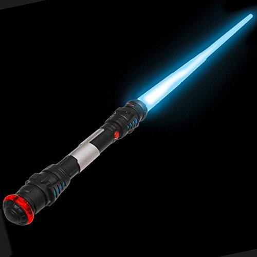 Goods & Gadgets 108cm Laserschwert Lichtschwert Laser Sword Schwert mit Licht, Sound & - Rey Skywalker Kostüm