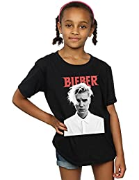 Justin Bieber Girls White Shirt T-Shirt