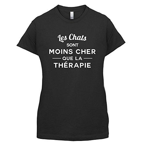 Les chats sont moins cher que la thérapie - Femme T-Shirt - 14 couleur Noir