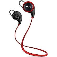 Firstec – auriculares Bluetooth inalámbricos con micrófono para correr, Bluetooth 4.1, aptX, Cancelación de ruido CVC 6.0, a prueba de sudor