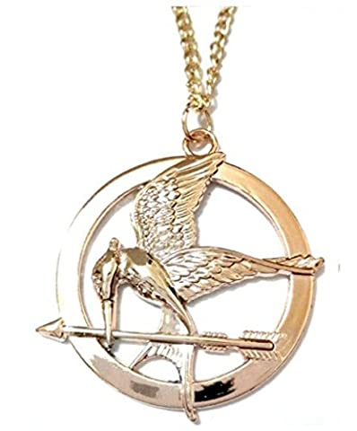 Collier Jay imitatrice Mocking Bird de la faim et Sous-catégorie Jeux jeu de couleurs or Hunger Games The Girl Of Fire - Oiseau Avec Flèche