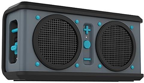 Skullcandy Air Raid Bluetooth Wasserfester Robuster Wireless Drahtloser Kabelloser Tragbarer Wiederaufladbarer Lautsprecher - Grau/Schwarz/Hot Blue